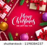 christmas card vector... | Shutterstock .eps vector #1198384237
