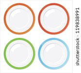 set of four clean plates with... | Shutterstock .eps vector #119838991