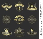 christmas labels and badges... | Shutterstock .eps vector #1198392931