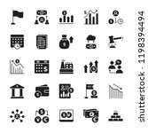 stock market solid icons set  | Shutterstock .eps vector #1198394494