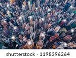 digital network connection... | Shutterstock . vector #1198396264