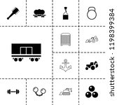 heavy icon. collection of 13... | Shutterstock .eps vector #1198399384
