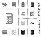 calculation icon. collection of ... | Shutterstock .eps vector #1198399387