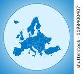 map of europe | Shutterstock .eps vector #1198400407
