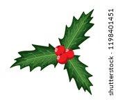 christmas holly berry leaves.... | Shutterstock .eps vector #1198401451