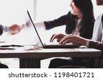 businessman working on laptop...   Shutterstock . vector #1198401721
