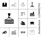 heavy icon. collection of 13... | Shutterstock .eps vector #1198402741