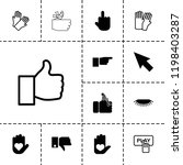 finger icon. collection of 13... | Shutterstock .eps vector #1198403287