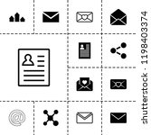 send icon. collection of 13...   Shutterstock .eps vector #1198403374