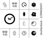 counter icon. collection of 13... | Shutterstock .eps vector #1198403437