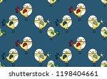 cute bird seamless pattern on... | Shutterstock .eps vector #1198404661