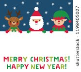 christmas vector poster with... | Shutterstock .eps vector #1198405027