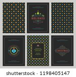 merry christmas greeting cards... | Shutterstock .eps vector #1198405147