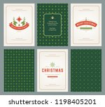 merry christmas greeting cards...   Shutterstock .eps vector #1198405201