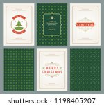 merry christmas greeting cards... | Shutterstock .eps vector #1198405207