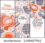happy thanksgiving day design... | Shutterstock .eps vector #1198407961