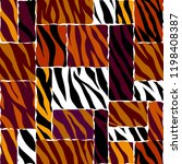 abstract exotic pattern in... | Shutterstock .eps vector #1198408387