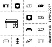comfortable icon. collection of ... | Shutterstock .eps vector #1198410097