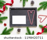 christmas composition.... | Shutterstock . vector #1198420711