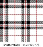 White,red and black tartan plaid Scottish seamless pattern.Texture from tartan, plaid, tablecloths, clothes, shirts, dresses, paper, bedding, blankets and other textile products.
