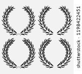 icon laurel wreath  spotrs... | Shutterstock . vector #1198422451