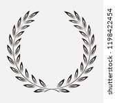 icon laurel wreath  spotrs... | Shutterstock . vector #1198422454