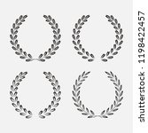 icon laurel wreath  spotrs... | Shutterstock . vector #1198422457