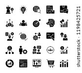marketing plan icons pack  | Shutterstock .eps vector #1198425721