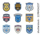 police shield. government agent ... | Shutterstock .eps vector #1198426237