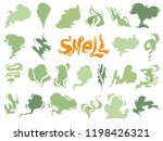 bad smell. steam smoke clouds... | Shutterstock .eps vector #1198426321