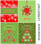 collection red and green... | Shutterstock .eps vector #1198427467