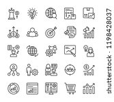 marketing plan icons pack  | Shutterstock .eps vector #1198428037