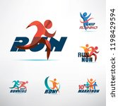 running people logo template ... | Shutterstock .eps vector #1198429594