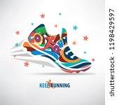 sneaker stylized vector symbol  ... | Shutterstock .eps vector #1198429597