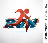 running people logo template ... | Shutterstock .eps vector #1198430167