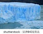 amazing huge ice blue color... | Shutterstock . vector #1198431511