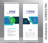 roll up business brochure flyer ... | Shutterstock .eps vector #1198431784