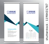roll up business brochure flyer ... | Shutterstock .eps vector #1198431787