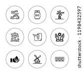 alternative icon set.... | Shutterstock .eps vector #1198432597