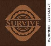 survive wood signboards | Shutterstock .eps vector #1198433524