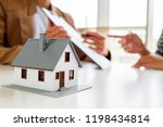 house model with real estate... | Shutterstock . vector #1198434814