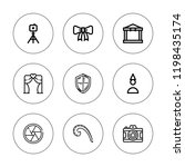 frame icon set. collection of 9 ... | Shutterstock .eps vector #1198435174