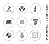 challenge icon set. collection... | Shutterstock .eps vector #1198435204