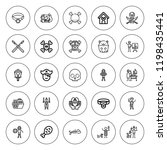 bone icon set. collection of 25 ... | Shutterstock .eps vector #1198435441