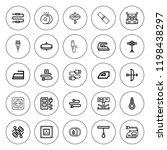 cord icon set. collection of 25 ... | Shutterstock .eps vector #1198438297