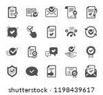 approve icons. set of check... | Shutterstock .eps vector #1198439617