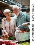 senior family couple choosing... | Shutterstock . vector #1198440124