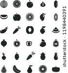 solid black flat icon set beet... | Shutterstock .eps vector #1198440391