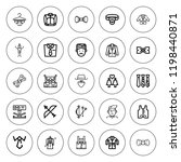 tie icon set. collection of 25...   Shutterstock .eps vector #1198440871