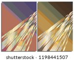 set of abstract posters with... | Shutterstock .eps vector #1198441507